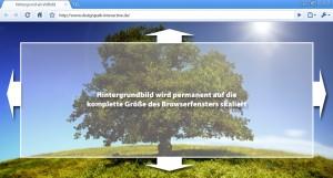 Hintergrundbild über das komplette Browserfenster